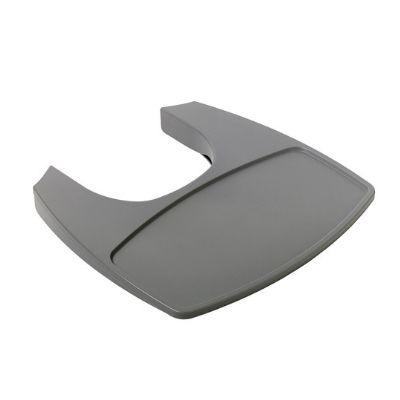 Leander meegroeistoel tafelblad grijs