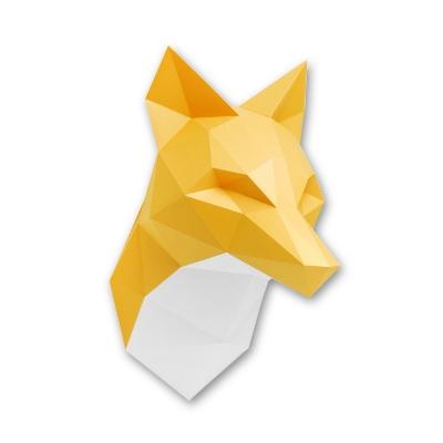 Assembli dierenhoofd papier Vos oranje