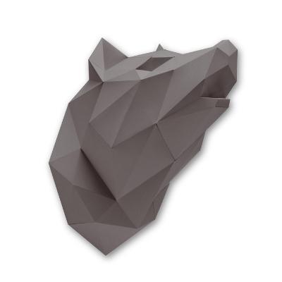Assembli dierenhoofd papier Wolf bruin