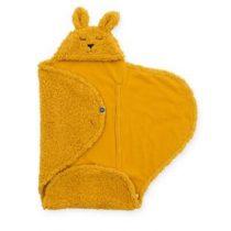 Jollein wikkeldeken Bunny mustard geel
