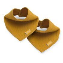 Jollein slab bandana Brick velvet mustard 2 pack