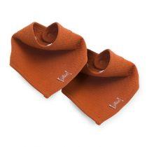 Jollein slab bandana Brick velvet rust 2 pack
