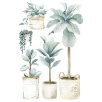 Lilipinso Greenery muursticker large plants and jars