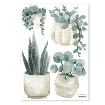 Lilipinso Greenery muursticker plants and jars