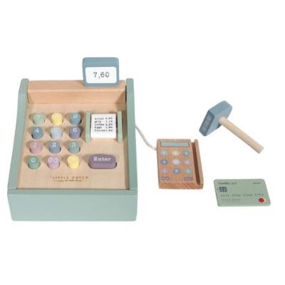 Little Dutch houten kassa met scanner mint