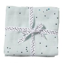 Done by Deer swaddle doeken Dreamy Dots blue