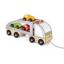 Janod vrachtwagen met 3 auto`s