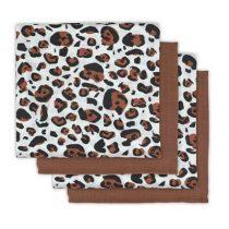 Jollein hydrofiele doeken leopard natural 4 stuks