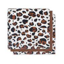 Jollein hydrofiele monddoekjes 3 stuks leopard natural