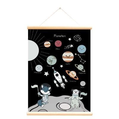 Little and Pure poster praatplaat Planeten
