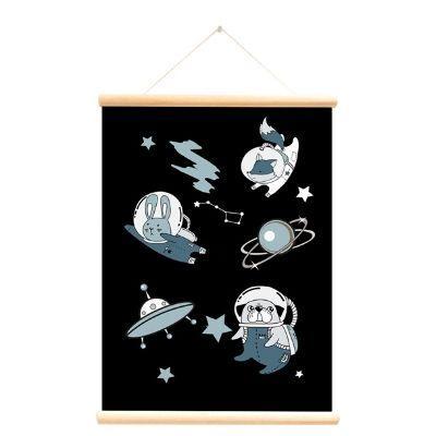 Little and Pure poster praatplaat Planeten