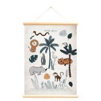 Little and Pure poster praatplaat Wilde dieren vintage