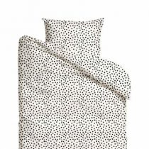Mies & Co dekbedovertrek baby Cozy Dots offwhite