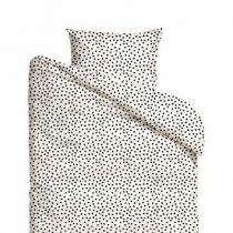 Mies & Co dekbedovertrek baby Cozy Dots offwhite