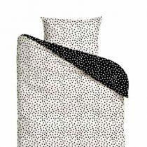 Mies & Co dekbedovertrek eenpersoons Cozy Dots double face