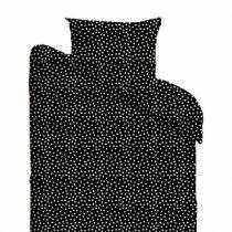 Mies & Co dekbedovertrek junior Cozy Dots black