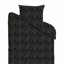 Mies & Co dekbedovertrek junior Cozy Dots black