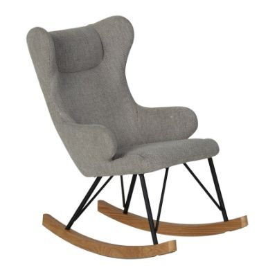 Quax schommelstoel Rocking Adult Chair sand grey