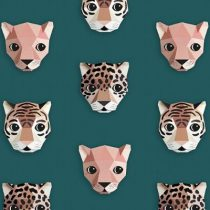 Studio Ditte behang panthera groen