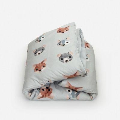 Studio Ditte dekbedovertrek bosdieren ijsblauw eenpersoonsbed