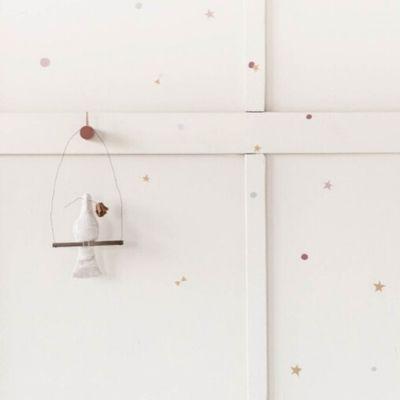Bibelotte muurstickers Confetti terra en poederroze