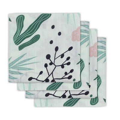 Jollein hydrofiele doeken leaves 4 stuks