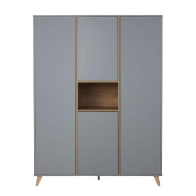 Quax kledingkast 3 deuren Loft grey