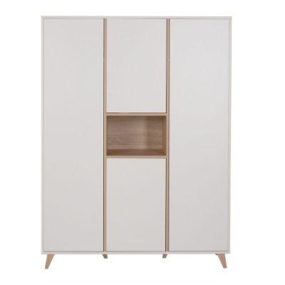 Quax kledingkast 3 deuren Loft white