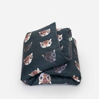 Studio Ditte dekbedovertrek panthera donker eenpersoonsbed