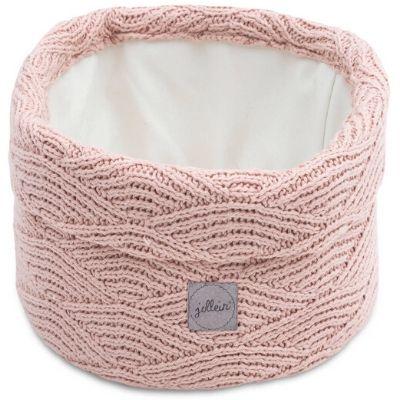 Jollein mandje River knit pale pink