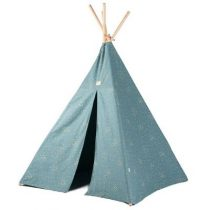 Nobodinoz Phoenix tipi tent 149x100cm gold confetti magic green