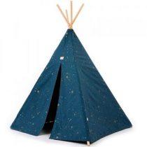 Nobodinoz Phoenix tipi tent 149x100cm gold stella night blue