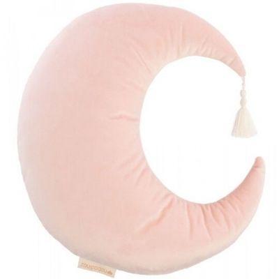 Nobodinoz Pierrot kussen maan velvet bloom pink