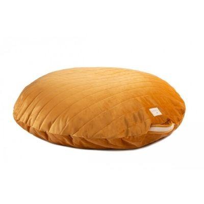 Nobodinoz Sahara vloerkussen velvet farniente yellow 90cm
