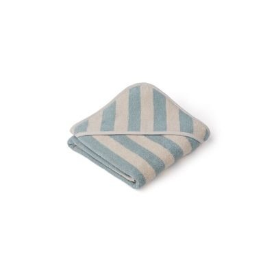 Liewood Alba badcape gestreept sea blue sandy