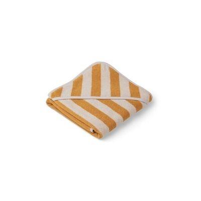 Liewood Alba badcape gestreept yellow mellow sandy