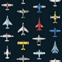 Studio Ditte behang vliegtuigjes donker