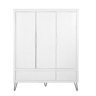 Coming Kids Xenia kledingkast 3 deuren wit