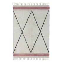 Tapis Petit vloerkleed ruit met roze bies 120x170 cm
