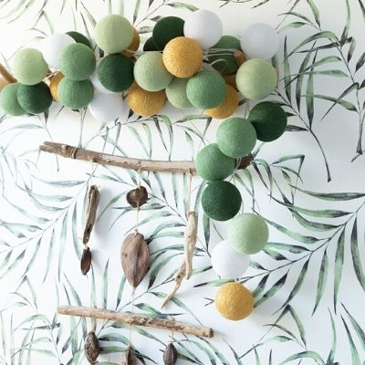 Cotton Ball Lights Sparkling palm 10 stuks