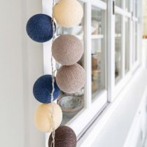 Cotton Ball Lights Steel blue 10 stuks