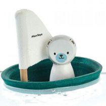 PlanToys zeilboot ijsbeer