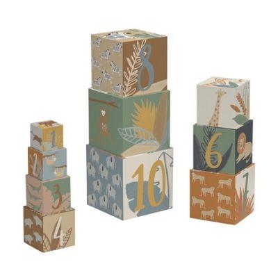 Sebra kartonnen stapelblokken Wildlife