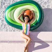 Swim Essentials avocado luchtbed groot xl