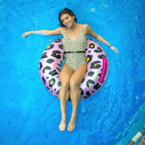 Swim Essentials zwemband rosé gouden panter groot 90cm