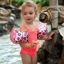 Swim Essentials zwembandjes rosé gouden panter 2-6 jaar