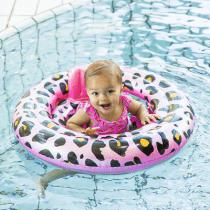 Swim Essentials zwemzitje baby rosé goud panter