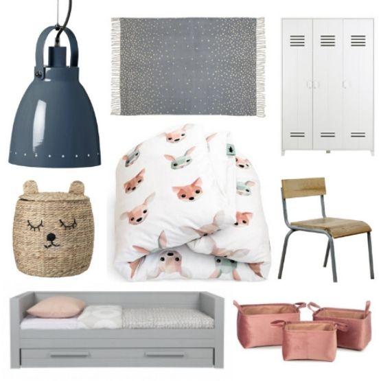 Inspiratie voor een dierenkamer met blauw en roze!