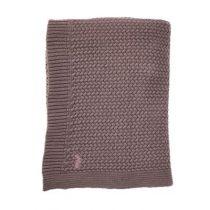 Mies & Co ledikantdeken soft knitted Rosewood