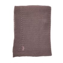 Mies & Co ledikantdeken soft knitted Rosewood